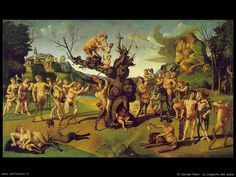 The Discovery of Honey by Bacchus : Piero di Cosimo : High Renaissance : mythological painting - Oil Painting Reproductions Renaissance Kunst, Italian Renaissance, Italian Paintings, Great Paintings, European Paintings, Rome Antique, Art Ancien, Classical Antiquity, Les Religions