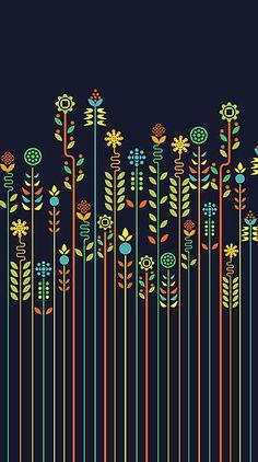 37 trendy Ideas for wallpaper iphone art prints stretched canvas Arte Tribal, Tribal Art, Flower Canvas, Flower Art, Motifs Aztèques, Plakat Design, Grafik Design, Fabric Painting, Pattern Art