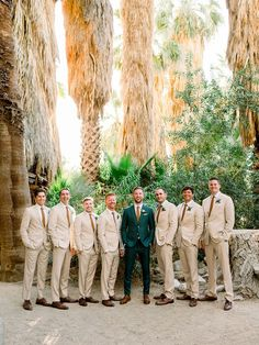 A Palm Springs wedding at a mid-century home - 100 Layer Cake Wedding Ring For Her, Traditional Wedding Dresses, Nontraditional Wedding, Real Weddings, Spring Weddings, Mid Century House, Groom And Groomsmen, Palm Springs, Floral Wedding