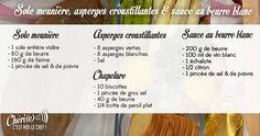 SOLE MEUNIÈRE - ASPERGES CROUSTILLANTES - SAUCE AU BEURRE BLANC