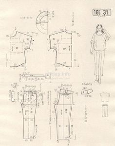 Japanese book and handicrafts - Lady Boutique Simple Blouse Pattern, Japanese Sewing Patterns, Bodice Pattern, Make Your Own Clothes, Dress Making Patterns, Japanese Books, Pattern Drafting, Pattern Sewing, Fashion Sewing