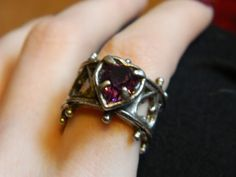 Elizabethan heart ring $49 - matches the bracelet pinned previously.