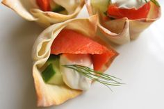 easy appetizer: baked wonton cups!