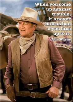 """Amazon.com: John Wayne Magnet~ """"When You Come Up Against Trouble""""~ Approx 2.5"""" x 3.5"""": Refrigerator Magnets: Kitchen & Dining"""
