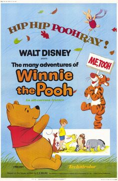 The Many Adventures of Winnie the Pooh animated classic from Walt Disney Animation collects three short films and releases them together in one adventure. Disney Movie Rewards, Disney Films, Walt Disney Animated Movies, Animated Movie Posters, Disney Movie Posters, Disney Love, Cartoon Posters, Cartoons, Disney Magic