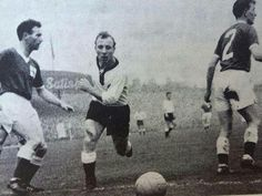 Uwe Seeler in action in the World Cup Qualifier. 1960