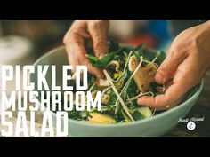 ▶ How to make raw Pickled Mushroom Salad - YouTube