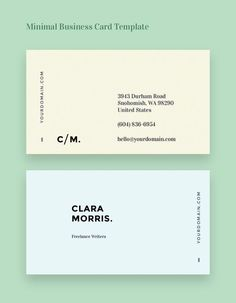 Minimal Business Card Template #minimalbusinesscards #businesscardtemplate #minimaldesign #businesscards
