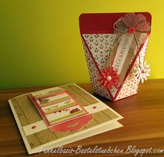 Verpackung, selbstverschließende Verpackung, Box, gift, stampin up, Wasserfallkarte, Waterfall Card, Card, Birthday Card, Geburtstagskarte