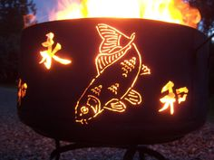 Koi/Dragon Fly Fire Pit of mostly salvaged by YosemiteHomeFires