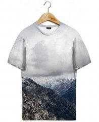 Somewhere V-T-Shirt All-Over-Druck