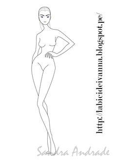#figurin de #moda #ilustración # sketch