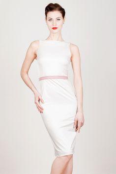 Weißes Kleid aus Baumwolle von Yvonne-Warmbier