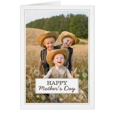 Modern Happy Mother's Day Photo Card click/tap to get for your Mom