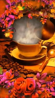 Good morning it's coffee time ~. Good Morning Coffee Images, Good Morning Beautiful Pictures, Good Morning Flowers, Beautiful Gif, Good Morning Greetings, Good Morning Good Night, Morning Pictures, Good Morning Quotes, Good Evening Love
