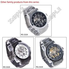 This is about Auto Mechanical Wrist Watch Railroad Pocket Wristwatch with Stainless Steel Strap for Man Male Boy - Black with Golden . Low Price Watches, Casio Watch, Stainless Steel, Pocket, Boys, Men, Accessories, Black, Baby Boys