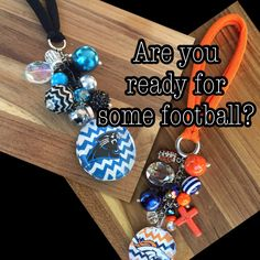 #SuperBowl #Panthers #Broncos Rearview Mirror Charms  February coupon 10% off  Code: HEART10