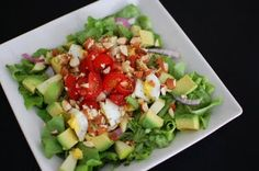 Avocado and Apple Salad. Bet this would be good with my regular chive-lemon vinaigrette.