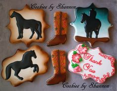 Cowboy and Horse     Cookies by Shannon