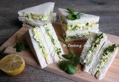 #MiogoMaestro : sandwiches anglais aux œufs et au cresson. Enjoy Your Meal, Sandwiches, Brunch, Exotic Food, Fresh Rolls, Feta, Dairy, Cheese, Cooking