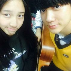 Danee with Park Sangwon (MBK trainee)