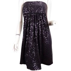 Pre-owned Marc Bouwer Black Dress ($103) ❤ liked on Polyvore featuring dresses, black, cocktail party dress, sequin party dresses, homecoming prom dresses, sequin prom dresses and black cocktail dresses