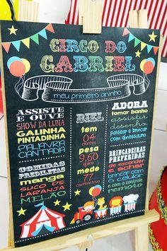 primeiro aniversário: festa infantil o circo do gabriel