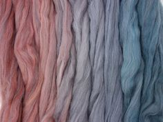 Forest Floor Gradient Pack of blended wool tops. This gradient has been created to make a seamless transition from one colour to the next. Seamless Transition, Spinning, Hand Spinning