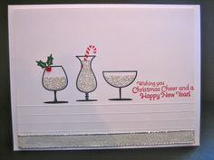Stampin' Up - Christmas Cheer Happy Hour Christmas Card