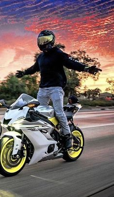 Why ride a motorcycle? Riding is something most people don't have to do, but rather feel compelled to–for a wide variety of reasons ranging from passion to practicality. Moto Bike, Motorcycle Bike, Yamaha Bikes, Triumph Motorcycles, Custom Motorcycles, Cb 1000, Bike Photoshoot, Biker Boys, Sportbikes