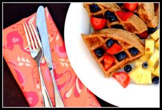 Maple, Walnut, and Flaxseed Waffles (or Pancakes) from Prevention RD