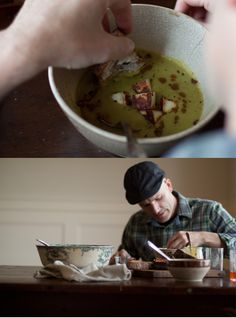 Green Lentil Soup with Curried Brown Butter.