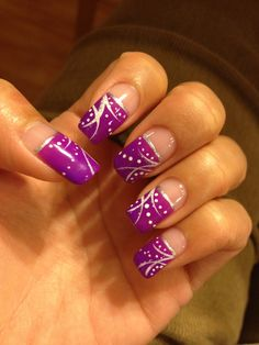 Fun, glitter, bright, gel nails design
