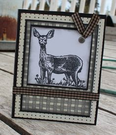 deer card. close to my heart stamp