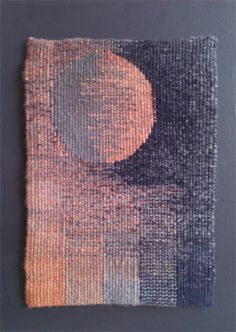 Hatched Moon. tapestry woven. artist not given