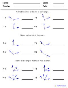 Triangle Angle Sum Worksheets: | school work | Pinterest ...