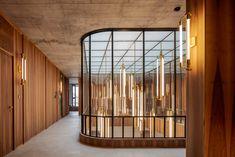 Decorative Metal Screen, Hotel Hallway, Ceiling Windows, Ceilings, Interior Architecture, Interior Design, Door Design, Design Design, Pendant Lighting