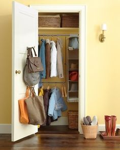 An uncluttered closet. Take stuff you don't use to either a consignment store, donate them or trash them. Live more simply so you can find things easily.