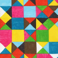 Reminds me of a Klee painting. Traveler's Blanket :: The Land That Never Was by Lisa Congdon for Cloud9 Fabrics