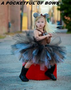 Cheetah Brown Halloween Tutu Dress Costume by APocketfulofBows, $49.99
