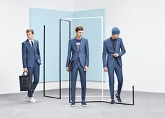 One suit worn three ways from the BOSS Menswear pre-Fall 2016 collection