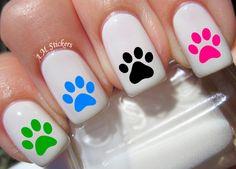 Little Girl Nails, Girls Nails, Nail Art Designs, Acrylic Nail Designs, Nail Designs For Kids, Animal Nail Designs, Pedicure Designs, Nail Art Stickers, Nail Decals