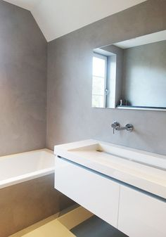 Gietvloer & Microcement badkamer Gorinchem | gietvloer | Pinterest ...