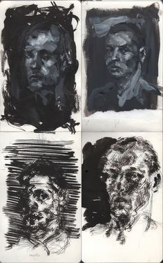 Black moleskine by Filip Peraić, via Behance A Level Art Sketchbook, Sketchbook Layout, Arte Sketchbook, Sketchbook Inspiration, Fashion Sketchbook, Academic Drawing, Art Alevel, Guache, Moleskine