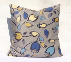 Giant Velvet Pillow Big Floral Pillow Soft light n cozy Pillow cover Grey navy turquoise yellow Decorative Cushion 64x64 Cozy Home Decor
