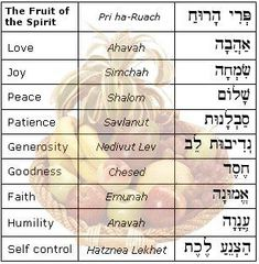 The 'fruits of the spirit' in Hebrew. For my 'Tree of Life' painting, add the fruits of the spirit in Hebrew. Frases Supernatural, Cultura Judaica, Hebrew School, Hebrew Words, Hebrew Quotes, Hebrew Word For Faith, Peace In Hebrew, Hebrew Names, Learn Hebrew
