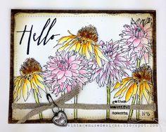 Vintage Muse Designs: Flower Garden Watercolor Card