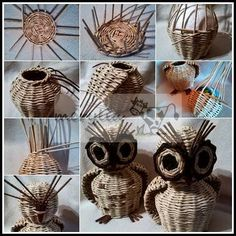 paper weaved owl