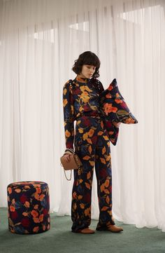 Mother of Pearl Sustainable Clothing, Aw17, Fancy Pants, Contemporary Fashion, Silk Top, Ready To Wear, Women Wear, Jumpsuit, Floral Blouse