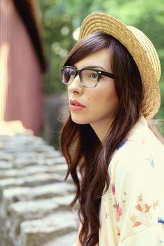 Keiko Lynn wearing Warby Parker Winston glasses in Lunar Fade